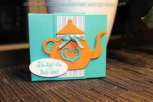 stempeln stanzen staunen, gift box, Verpackung handmade with Stampin' Up!, SU Tee, Tea, thé, A Nice Cuppa, DSP Noch ein Tässchen, Designer Series Paper, Vollkommene Momente, Framelits Formen Teestunde  https://stempelnstanzenstaunen.wordpress.com/2016/02/01/darf-es-noch-ein-taesschen-tee-sein/