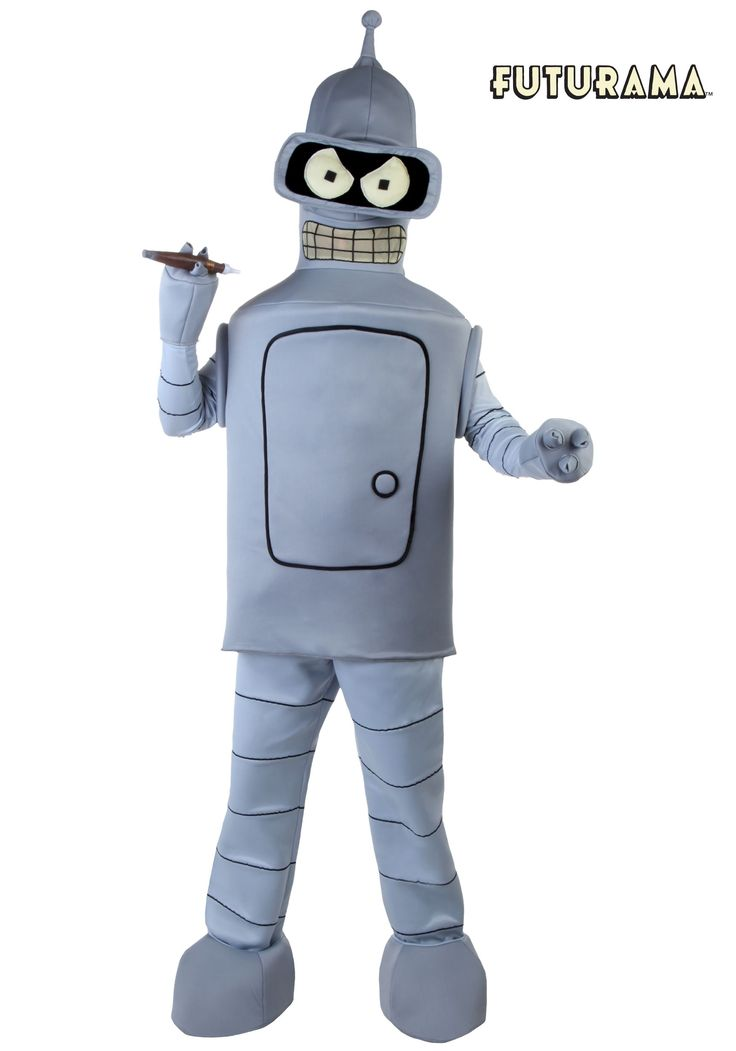 You live and breath anything robotic. Now you can look like a robot with this Futurama Bender costume.