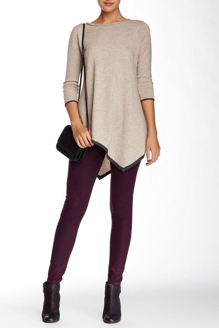 Cozy in cashmere!  Philosophy Cashmere Hanky Hem Tunic
