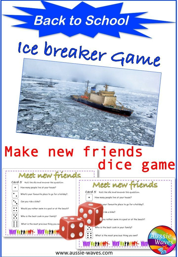 Ice breaker idea for back to school. A fun game or activity for teachers and students at the beginning of the year. Play and get to know each other.