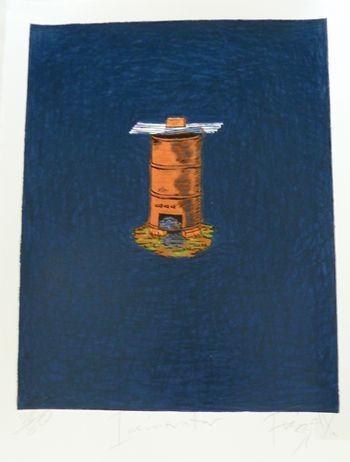 """Incinerator"" by Dick Frizzell. Edition of 80.  2012. 80 x 60 cm. Available for purchase, check it out at www.smythgalleries.co.nz"