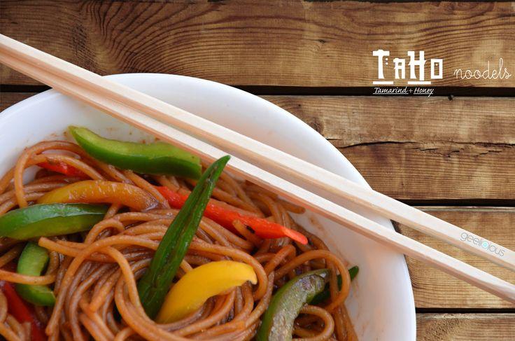 愛 TaHo Noodles 愛 with tangy Tamarind and sweet Honey
