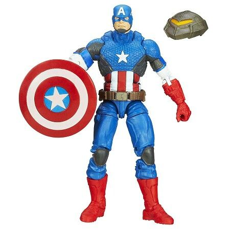 Captain America with mandroid head