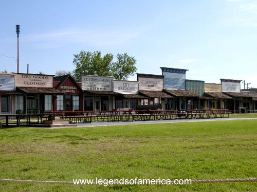 Dodge City, Kansas, a really neat place with a Gunsmoke museum and all of these little shops ...