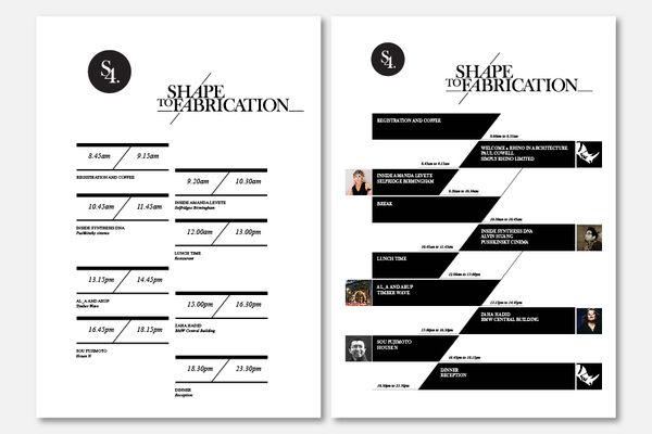 Graphic design contents page