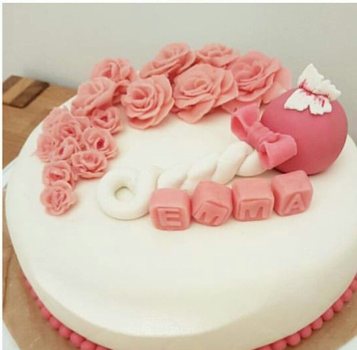 Marzipan cake for my daughter's baptism