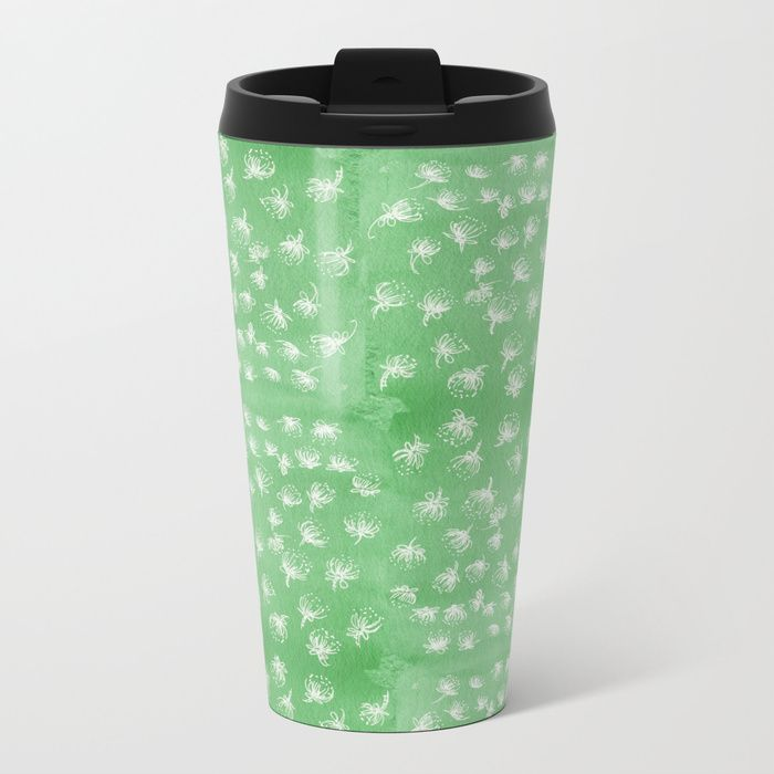 Buy flakes of Pohutukawa- green Metal Travel Mug by emiliegeant. Worldwide shipping available at Society6.com. Just one of millions of high quality products available.