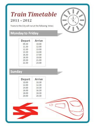 Role Play Train Timetable...An editable train timetable, ideal to use in early years role play scenarios.