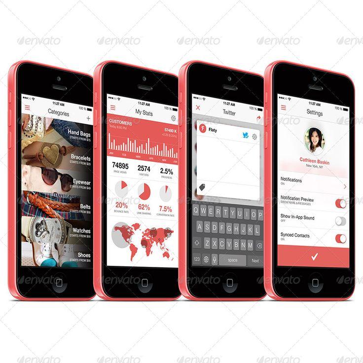 Crispy - A Fresh & Flat Mobile Ui Design