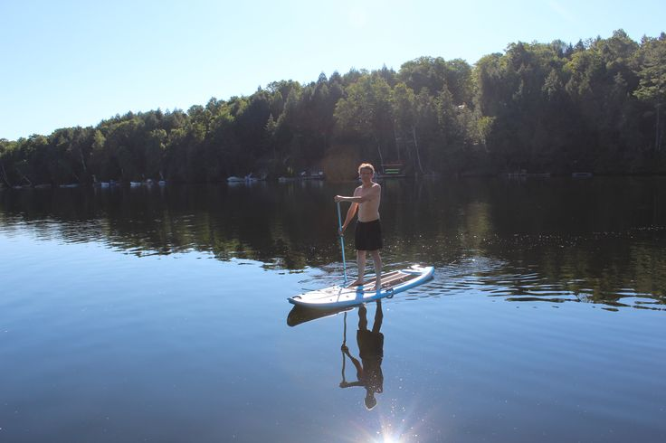 Paddle Boarding on Paudash Lake. My new favourite activity - it is quite magical to float on the board in the early morning mist when there is an absolute hush over the lake and not a breath of wind to disturb the steam rising from the lake...