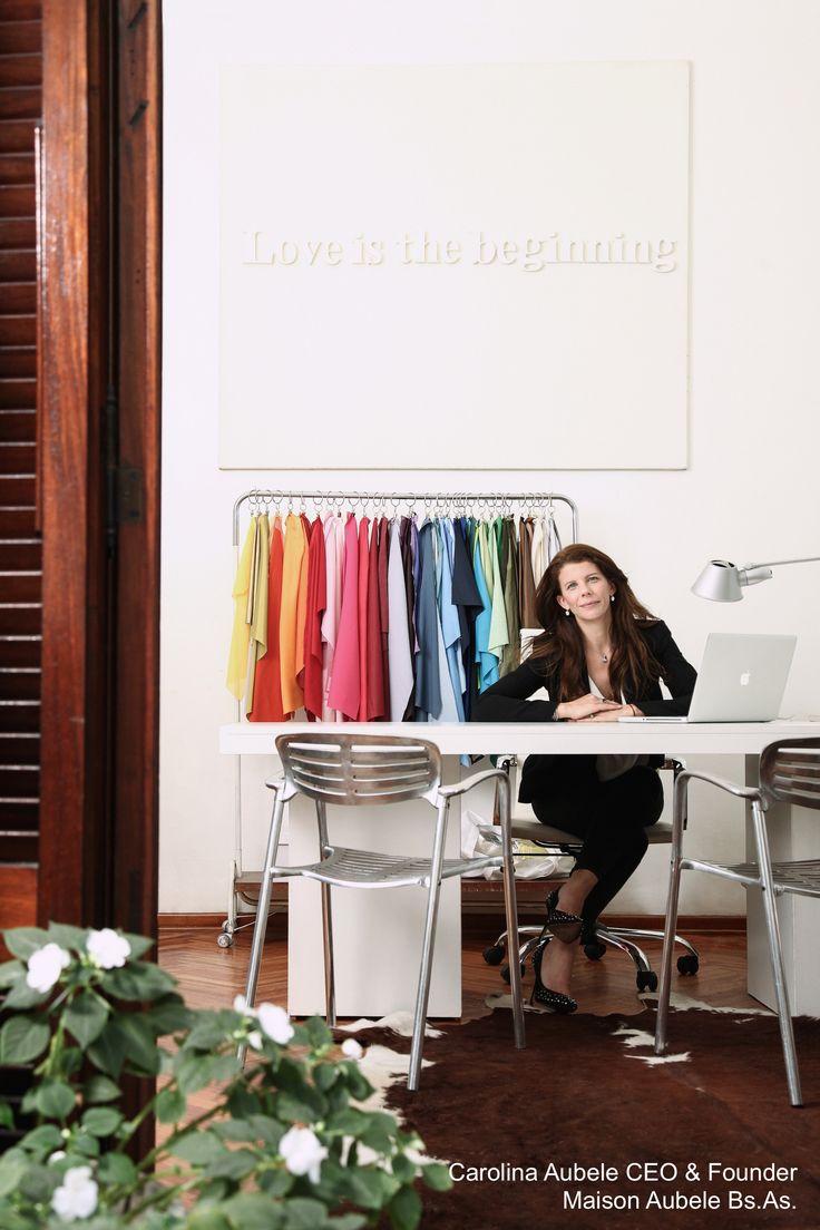 Carolina Aubele Fundadora y directora de Maison Aubele en su oficina de Medrano al 1300, Palermo Bs As. Ella fue la encargada de darle el espíritu estético que caracteriza la Maison Foto, Ezequiel Valdez