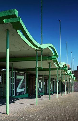 Lubetkin love: the canopy of the entrance to Dudley Zoo, by Berthold Lubetkin