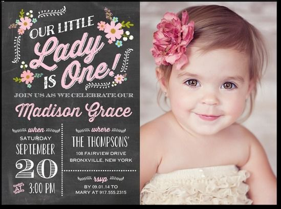 Best 25 First birthday invitations ideas – One Year Old Birthday Invitation