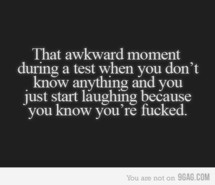 exam, quote, test, text, the awkward.