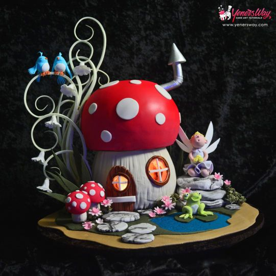 how to make toadstool cupcakes