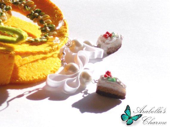 Orecchini con charms Fette di Torta fatte in di ArabellasCharme