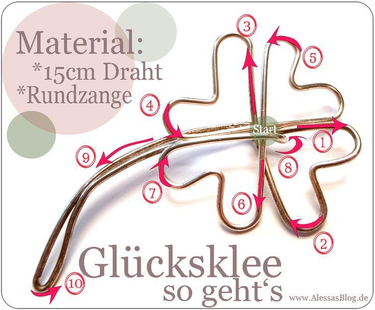 Alessas Blog: {DIY} Glücksklee aus Draht …