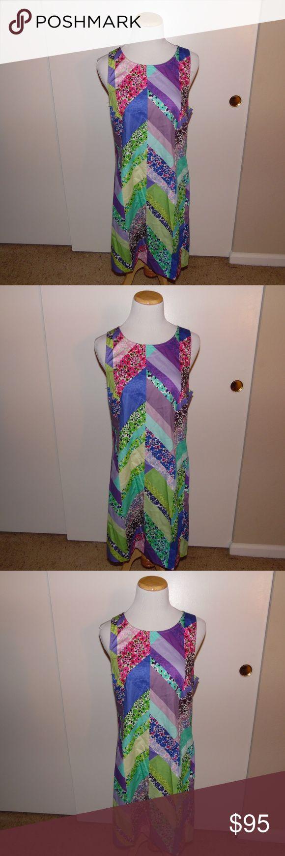 Trina Turk Comse Floral Chevron Dress Brand new with tags size 8 Trina Turk Comse Floral Chevron Multi Color Dress. Trina Turk Dresses