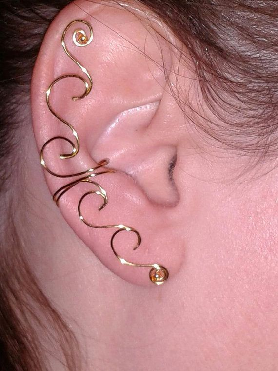 Gold+Wave+Ear+Cuff+non+piercing+by+WindancerCreations+on+Etsy,+$19.00