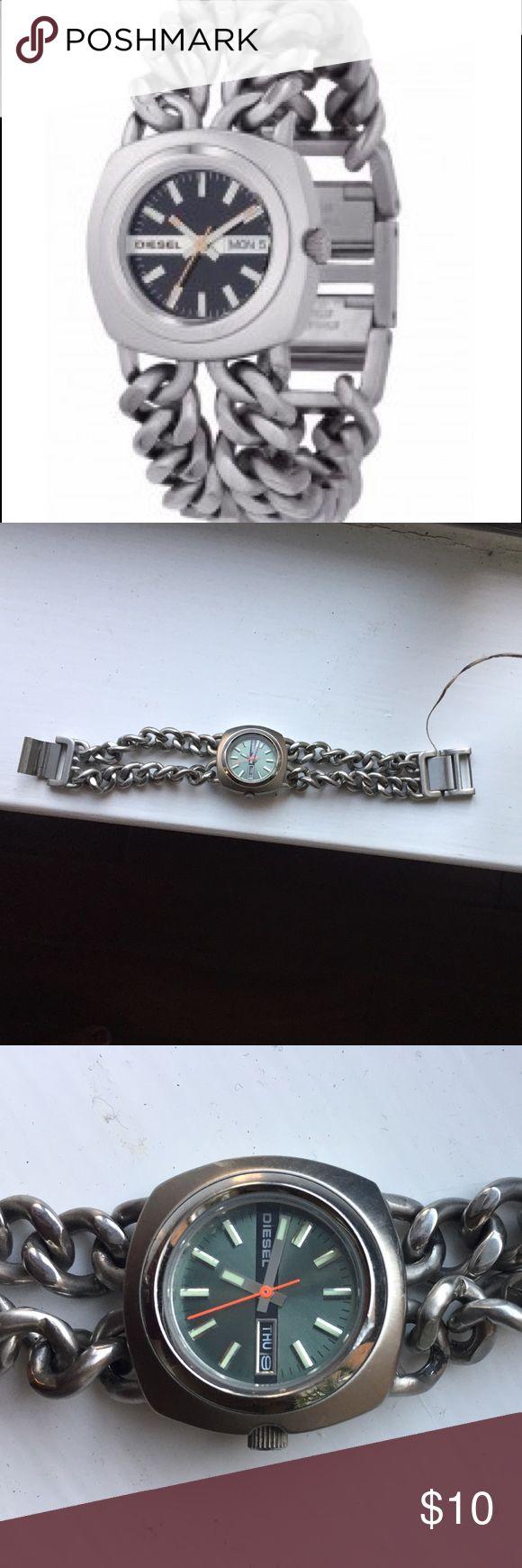 Diesel stainless steel chain link watch Smaller woman's watch. Diesel Accessories Watches