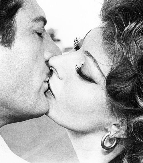 """Marcello Mastroianni and Sophia Loren in """"Marriage Italian Style"""", 1964."""