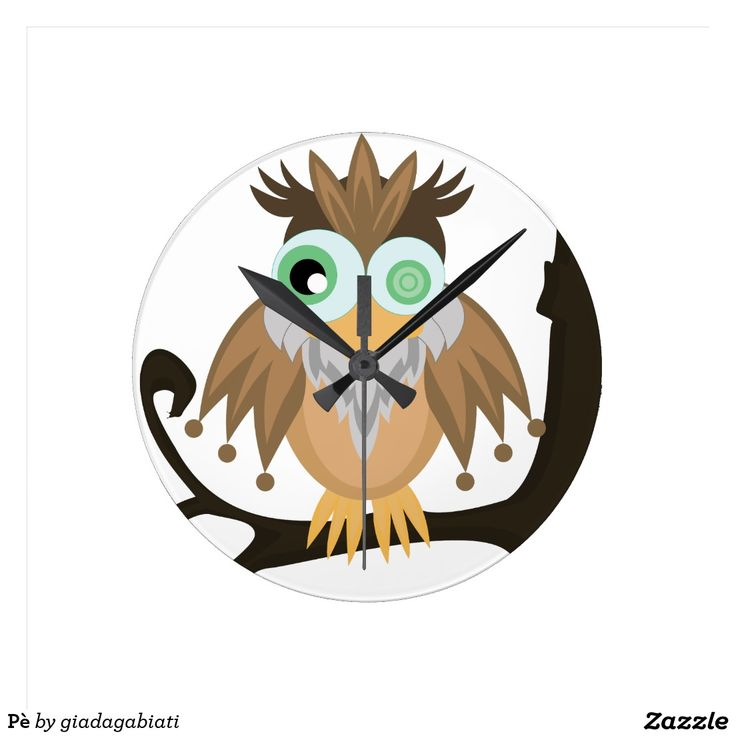 Pè Round Clocks #clock #bird #animals #funny #character #design #homedecor #homedesign #artist #cute #funny