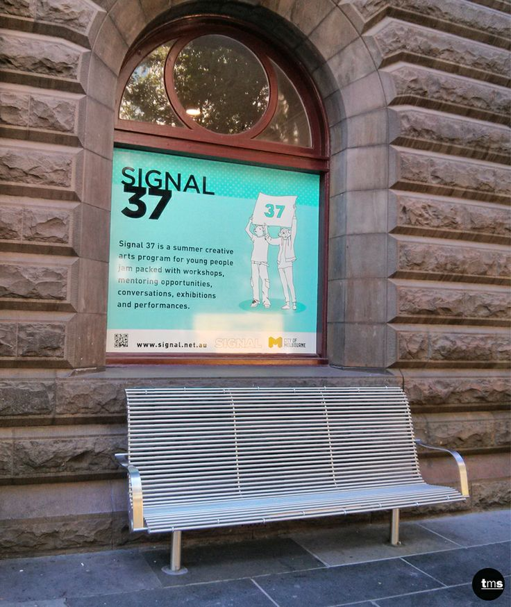 City Gallery, Melbourne Town Hall, Printed Window Decal, Signal 37, Event Promotion #windowdecal #print