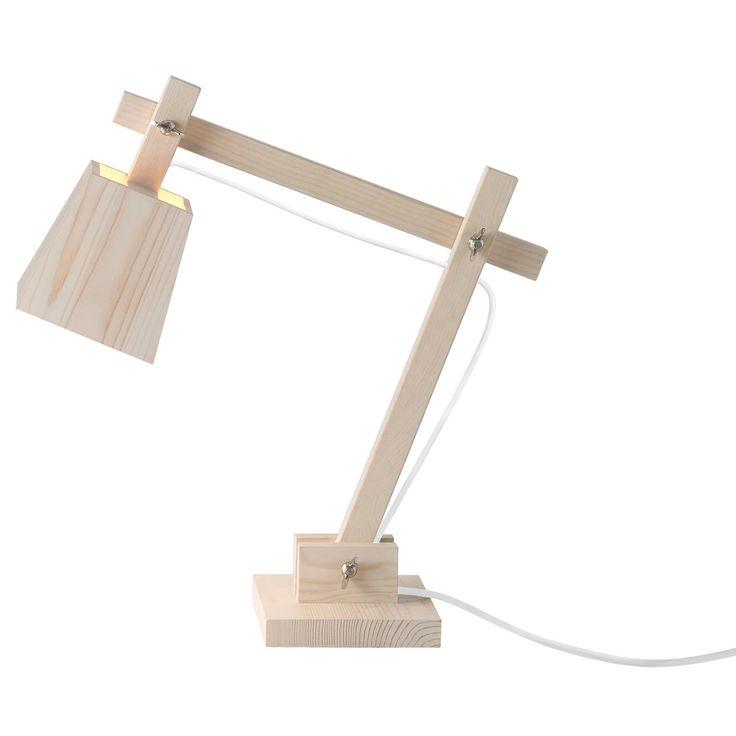 Wood lampe, hvit ledning i gruppen Belysning / Lamper / Bordlamper hos ROOM21.no (128916)