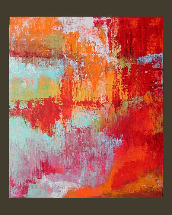 Original Painting Abstract Art Expressionist by LindaSuzStudios, $159.00
