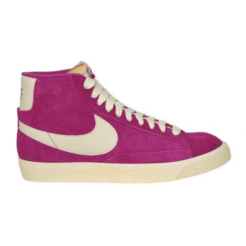 Womens Nike Blazer Mid Suede Vintage Pink Trainer Shoe