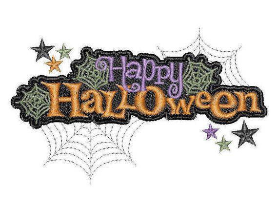Happy Halloween - Machine Embroidery Design - Instant Download - Six designs
