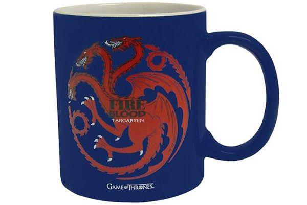 """Game of Thrones - Targaryen """"Fire & Blood"""" Blue & White Mug  Manufacturer: SDToys Barcode: 8436541020658 Enarxis Code: 012351 #toys #mug #Game_of_Thrones #Targaryen #tvseries"""