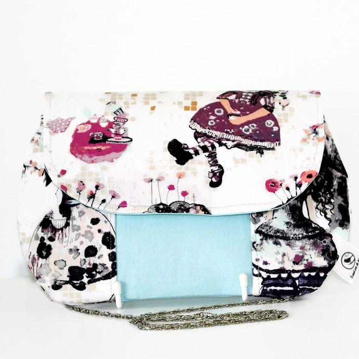 Wonderlandia Fabric Clutch Bag –  Art Gallery Fabric