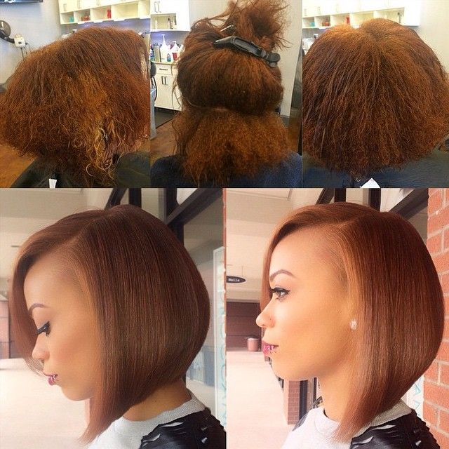 silk hair press natural hairstyles bob styles wrap african short pressed cut hairstyle cuts american straight before blowout voiceofhair bobs