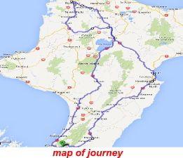 Tiki Tour North Island - map of journey https://www.ephiinspired.co.nz/content/blogs/tiki_tour_northisland.cshtml