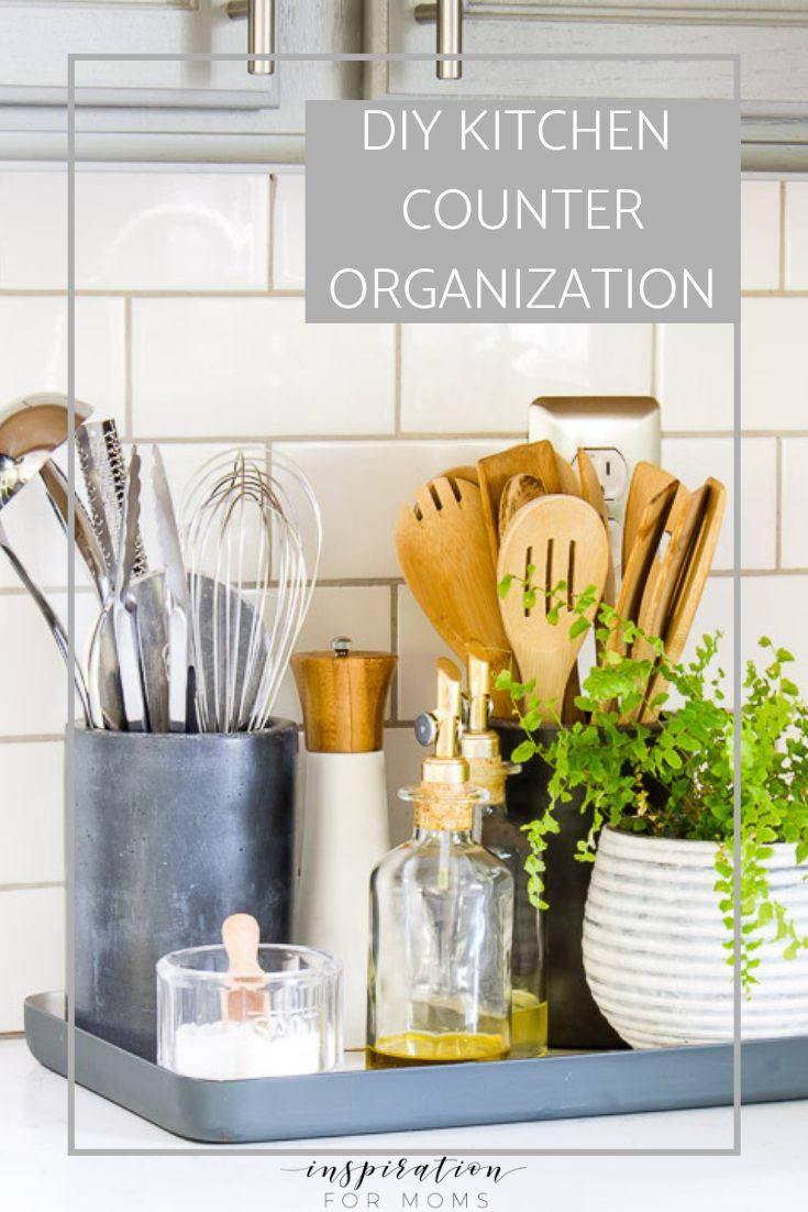Kitchen Counter Organization In A Styling Way Inspiration For Moms Kitchen Counter Organization Kitchen Counter Decor Kitchen Counter