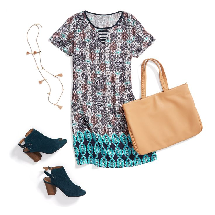 Boardroom boho. Shift into work mode with '70s-inspired colors, suede booties & an offbeat print.