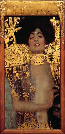 Klimt's explicit 1901 version of Judith and the Head of Holofernes