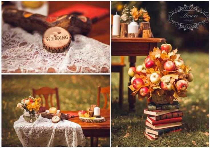 Салон флористики и декора Флорео » Свадебная фотосессия Осень
