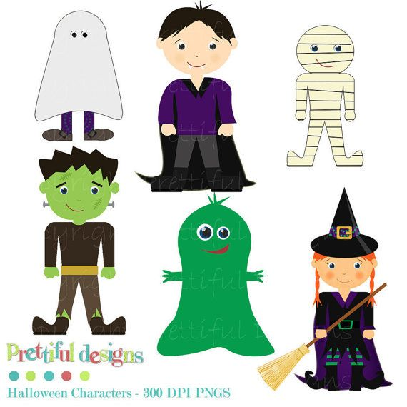 Halloween Clip Art for Scrapbooking, Invitations, Paper Goods, Card Making (146)