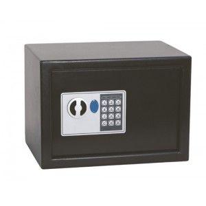 Caja de seguridad con cerradura digital ideal para el hogar o la oficina, para guardar de manera segura objetos valiosos o dinero.  Capacidad: 8,5 Litros
