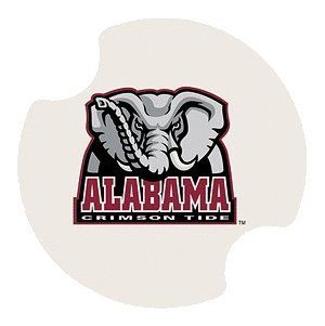 """University of Alabama Carsters - Coasters for Your Car by Thirstystone Resources, Inc.. $11.49. Easy to clean and great for gift giving. Absorbent ceramic coasters will soak up drinks from cup holders. Each package contains TWO carsters. Fits cup holders in most cars, vans, SUV's, and trucks. 2 Fingertip grips for easy removal from cup holder. This set of two Carsters feature the """"University of Alabama"""", Crimson Tide. Carsters are absorbent Coasters for your Car, SUV, Van, and ..."""