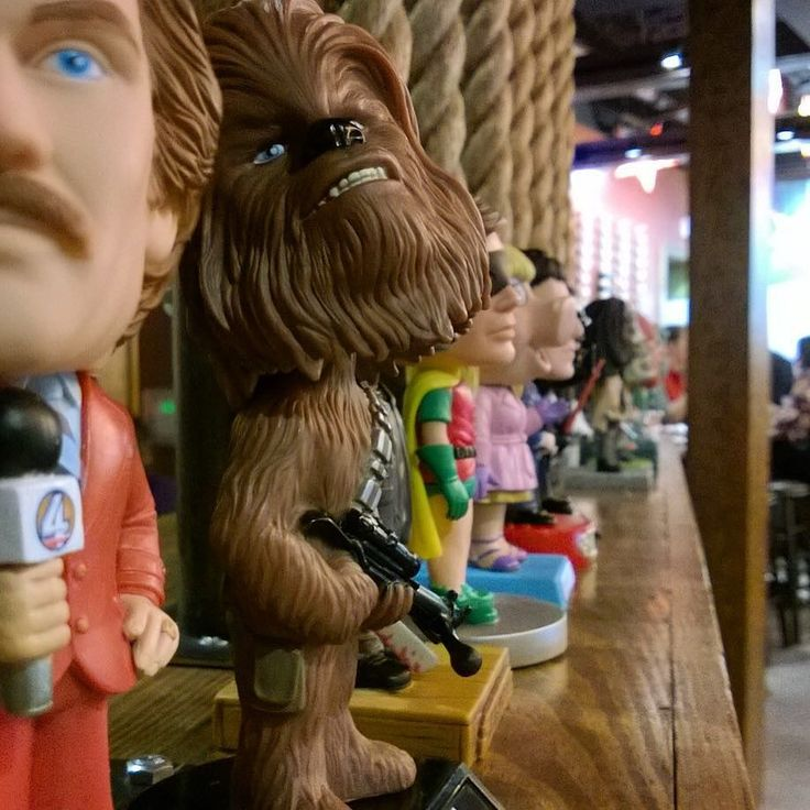 Ron... Please stop bothering Chewie he's not going to tell you the ending of the new Star Wars movie!! #TheForceAwakens #RonBurgandy #Chewbacca #StarWars7 #GonzaBobbleheads  by gonzatacosytequila