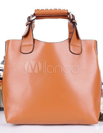Elegant PU Leather Women's Tote Bag - Milanoo.com