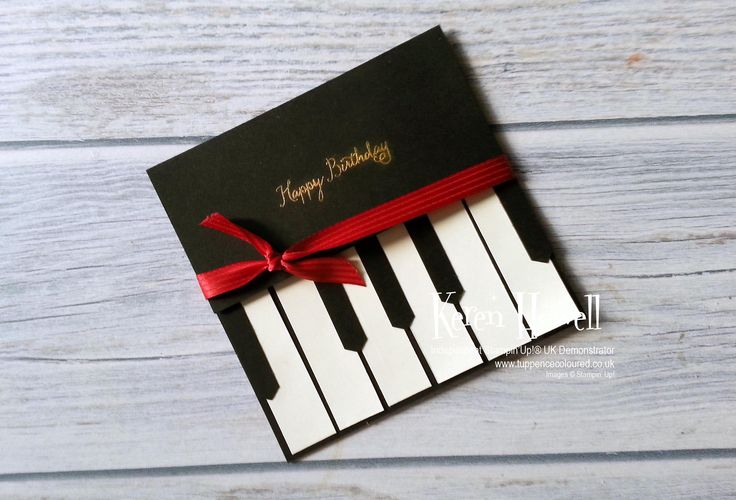Stampin' Up! Piano keyboard card