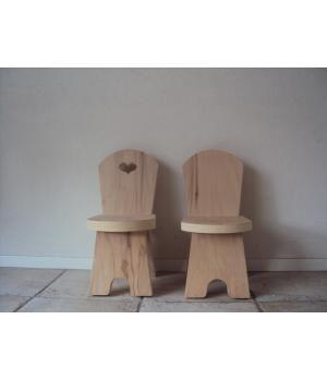 uper gave peuter /  kleuterstoeltjes, gemaakt van aanrecht blad materiaal.Kunnen met of zonder hartje in de rugleuningHebben hier ook een passend tafeltje bij.De stoeltjes zijn ook voor de kinderen makkelijk te verschuiven.Tarieven Stoel:Stoel :onbeh...