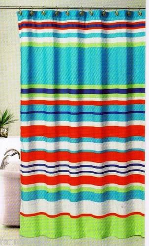 teal striped shower curtain. BOLD STRIPES FABRIC SHOWER CURTAIN  MULTI COLOR 70 x 72 NEW 27 best Jack n Jill bath images on Pinterest Bathroom ideas