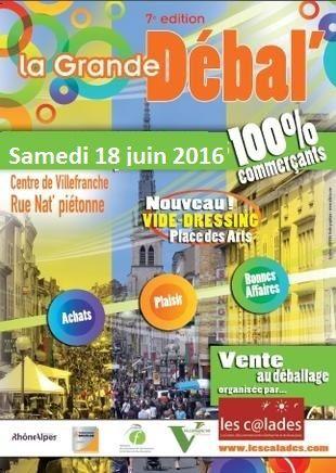 Grande débal' 2016 de Villefranche sur saône en rue Nat