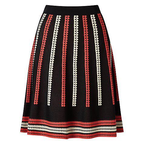 Buy Somerset by Alice Temperley Jacquard Skirt, Black Online at johnlewis.com