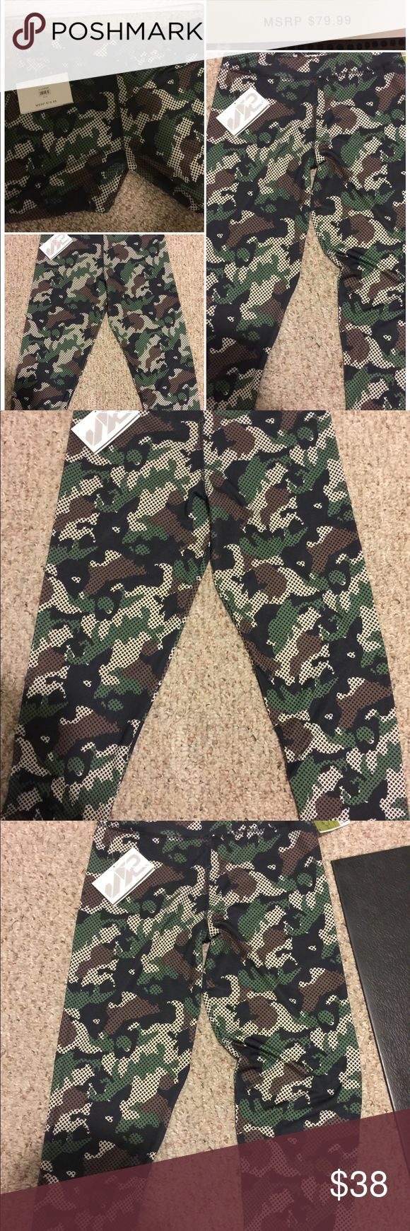 Camouflage leggings yoga cross fit  light XL💜 Brand new camouflage leggings great for yoga, cross fair, kickboxing or just wearing for casual play. Pairs nicely with the Fabletics sport bra I have for sale as well. Buy them as a set and get 20% off. These are XL and 90% Polyester and 10% Spandex S2Sportswear Pants Leggings